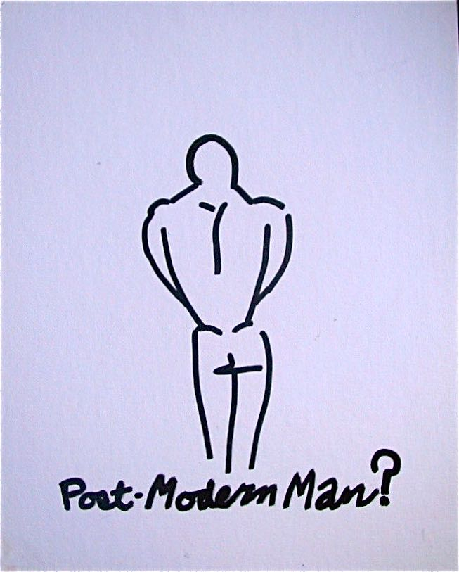 Post-Modern Man? by Evan Silberman NYC - '98