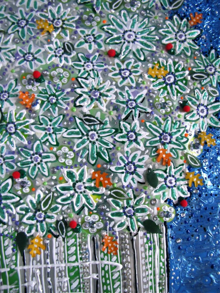 Detail #1 of Floral #3 by E.G.Silberman, 2009