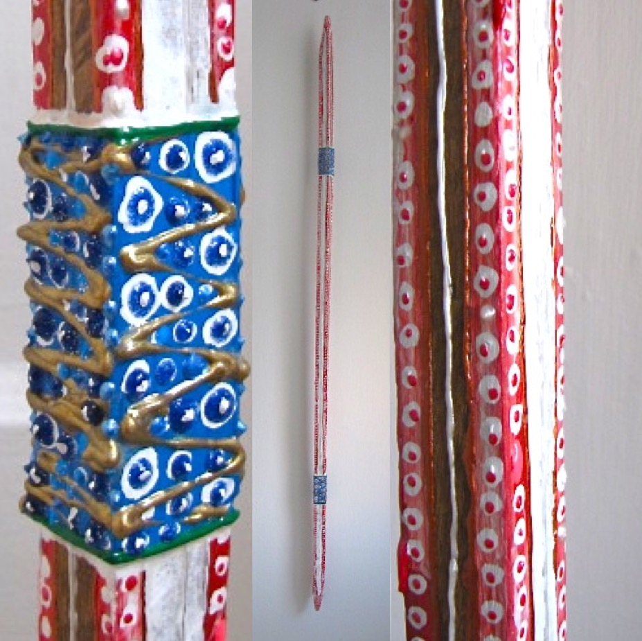 Red White Blue - Painted Tobacco Stick