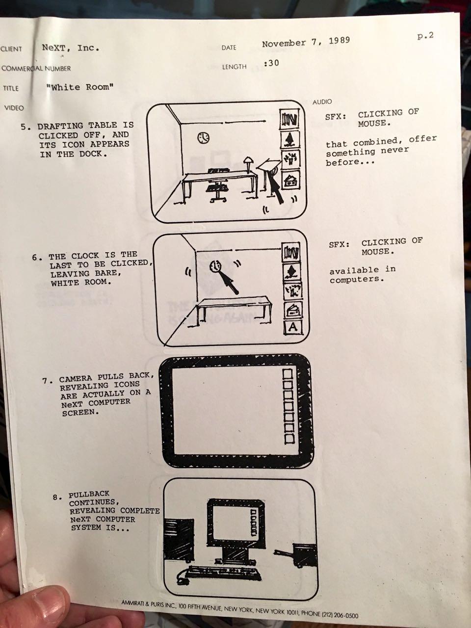 NeXT Computer TV Ad Script 1989 - 2 - Evan Silberman, NYC