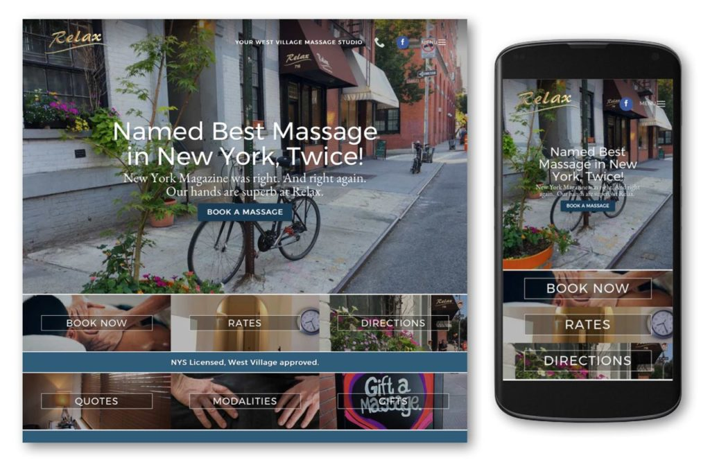 Homepage of website - Evan Silberman.NYC