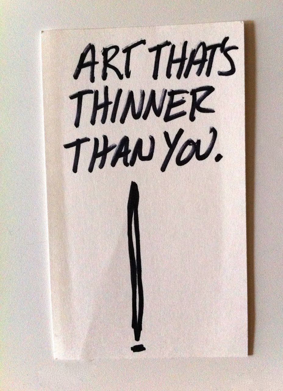 Art That's Thinner Than You - Evan Silbemran NYC