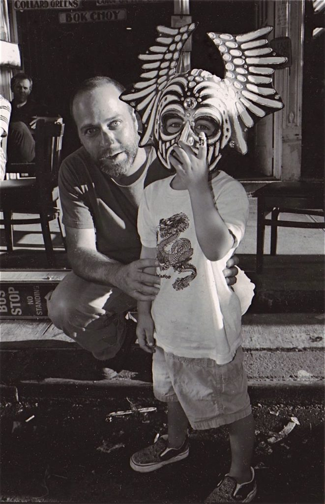 Masks - Evan Silberman NYC - Father and Son